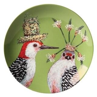 Frolicking Friends 7 Inch Plates - Set of 4 Bone china by Vicki Sawyer