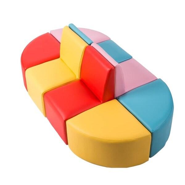 Kinbor Children Sofa, Kids Table & Chair Set, Foam Sofa ...