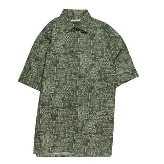 Moda Campia Moda Mens Button-Down Shirt Cotton Printed - M