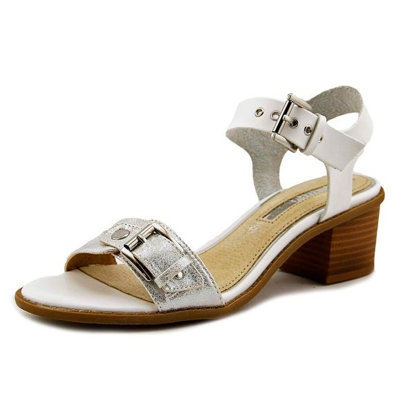 Maria Mare 66747 Women Open-Toe Leather White Slingback Sandal