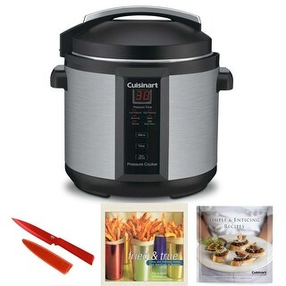 Cuisinart CPC600 Electric Pressure Cooker with Knife and Cookbooks (2)