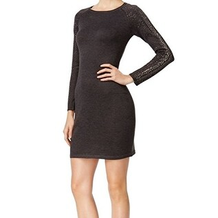 b0371ccb Shop Calvin Klein Women's Studded Ribbed Trim Sweater dress - Free Shipping  Today - Overstock - 19312865
