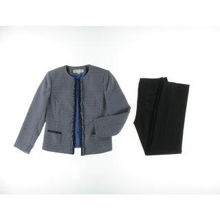 Tahari ASL Womens Petites Edmund Fringe 2PC Pant Suit