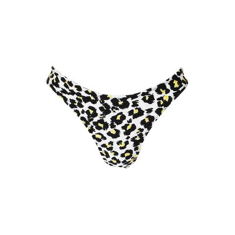 Volcom Black Multi Seeing Spots Printed High-Leg Bikini Bottom XS