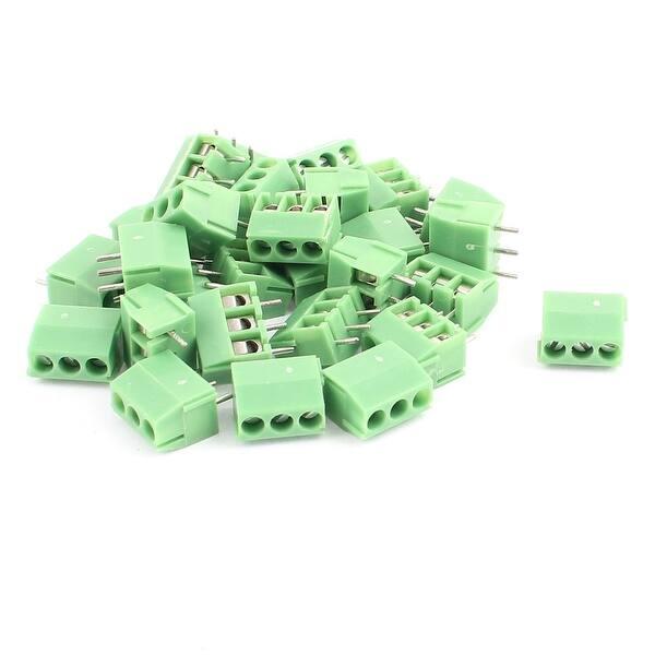 28 Pcs 3 50mm Pitch 3P Male PCB Pluggable Terminal Block Connector