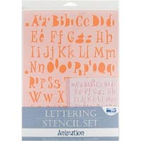 Animation - Lettering Stencil 4Pc Sets