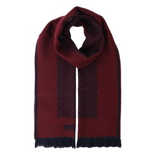 Missoni SC12WOU5084 0002 Burgundy/Black 100% Wool Scarf