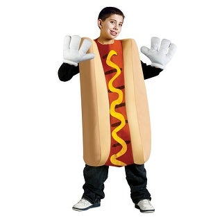 Child Hot Dog Funny Costume Standard Size Up to 14 - one size (up to size 14)