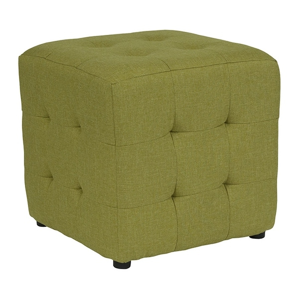 Strange Offex Avendale Tufted Upholstered Ottoman Pouf In Green Fabric Bralicious Painted Fabric Chair Ideas Braliciousco