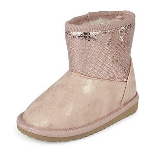 The Children's Place Kids' Fur Lined, Silver-boot, Size TDDLR 5 M US Toddler