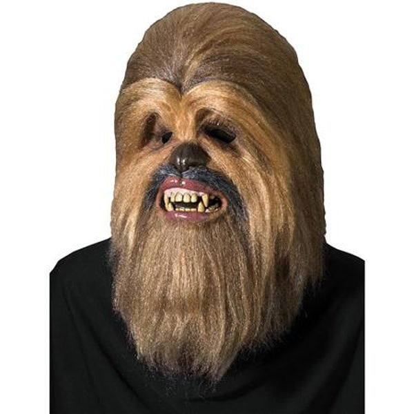 Super Deluxe Chewbacca Latex Overhead Mask - One Size - Brown