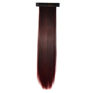 Horsetail Wig Long Straight Hair wine red 237-2M118#