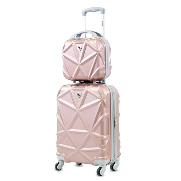 """AMKA Gem 2-Piece Carry-On 20""""/12"""" Cosmetic Weekender Luggage Set. Opens flyout."""