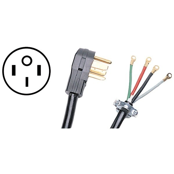 Certified Appliance 90-2064 4-Wire Range Cord, 40 Amps (6Ft)
