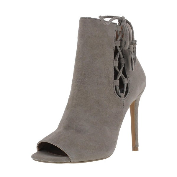 Steve Madden Womens Fabrice Ankle Boots Suede Open Toe