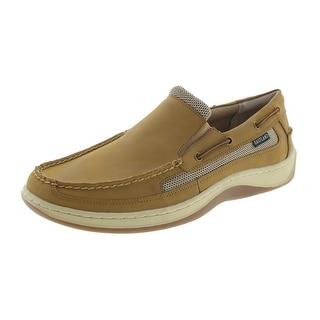 Eastland Mens Tidewater Leather Mesh Inset Boat Shoes - 11.5 medium (d)