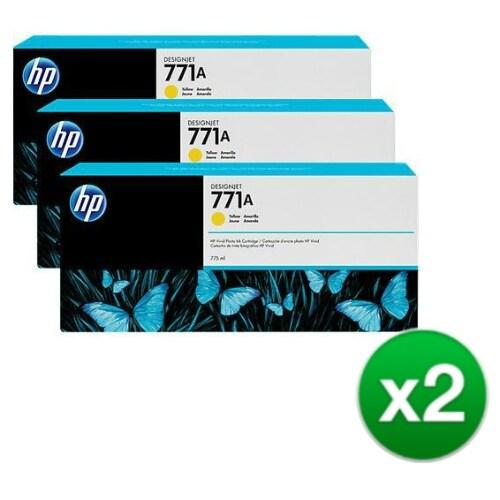 HP 771A 3-Cartridges 775-ml Yellow DesignJet Ink Cartridges (B6Y42A) (2-Pack)