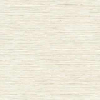 York Wallcoverings WB5501 Botanical Fantasy Horizontal Grasscloth Wallpaper - white/cream/pale taupe - N/A