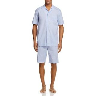 Hanro Mens Ryan Pajama Set Cotton 2PC