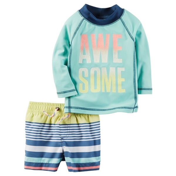 954102f5286e6 Shop Carter's Baby Boys' Awesome Rashguard Set, 6 Months - Free Shipping On  Orders Over $45 - Overstock - 18311743