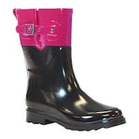 Western Chief Women's Mid Printed Rain Boot Top Pop Pink