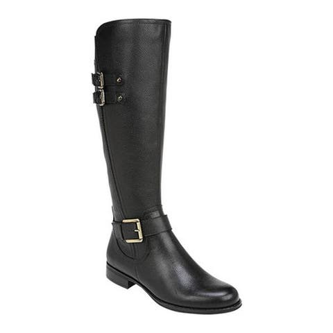 Naturalizer Women's Jessie Riding Boot Black Leather