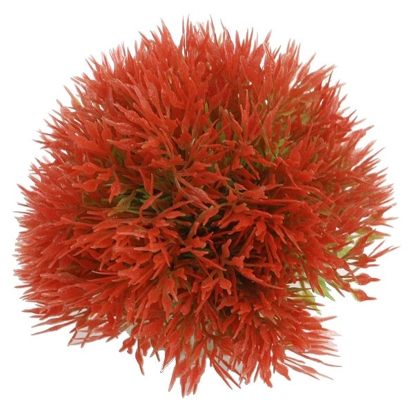 Shop Unique Bargains Fish Tank Red Ball Shaped Underwater Plants 2 6