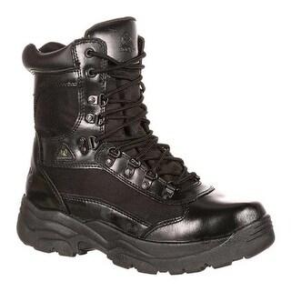 """Rocky Men's 8"""" Fort Hood 2049 Black Leather"""