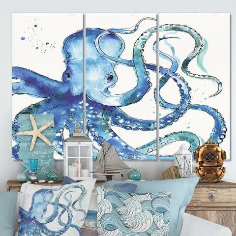 Designart 'Blue Deep Sea VIII' Canvas Wall Art