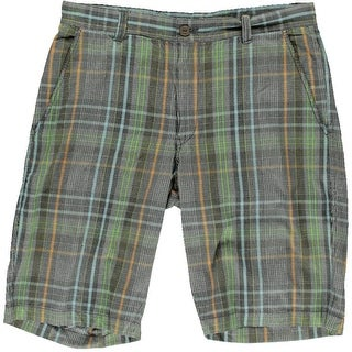 Argyle Culture Mens Cotton Houndstooth Bermuda, Walking Shorts