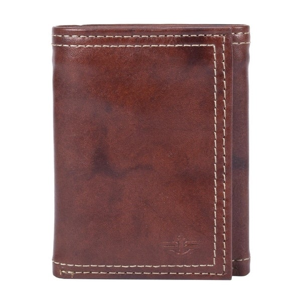 Dockers Men's Leather Interior Zipper Trifold Wallet - One size