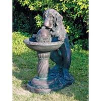 Design Toscano  Dog's Refreshing Drink Sculptural Fountain