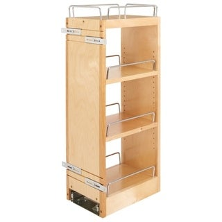 Rev-A-Shelf 448-BBSCWC-8C 448-BBSCWC Series 12 Inch Two Tier Pull Out Upper Cabi - Wood