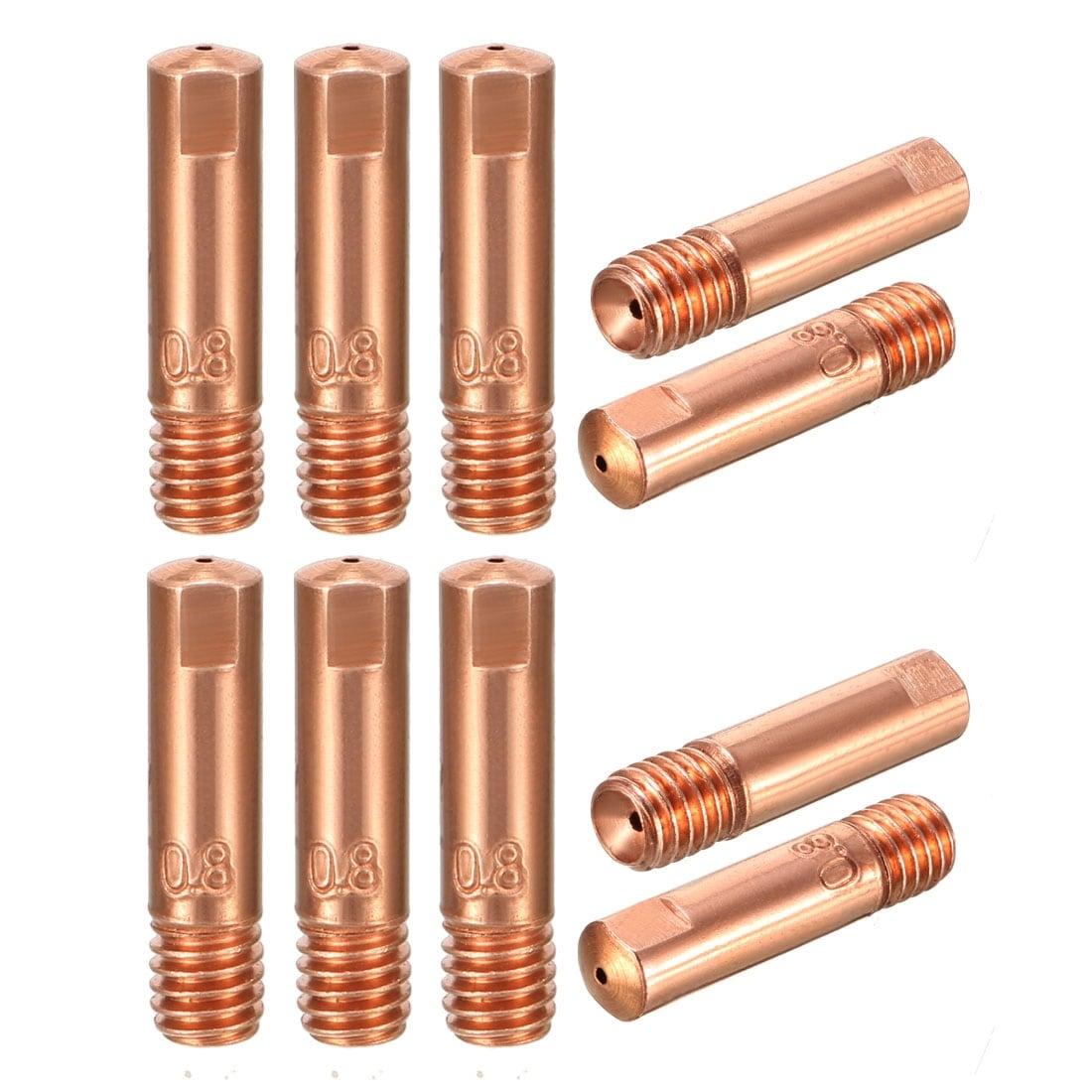10pcs Gas Nozzle Gold 15AK-0.8mm Mig Mag Welding Weld Torch Contact Tips .*/_GZU