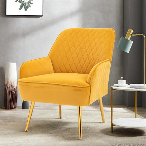 Moda Furnishings Deangelo Mid-century Accent Chair