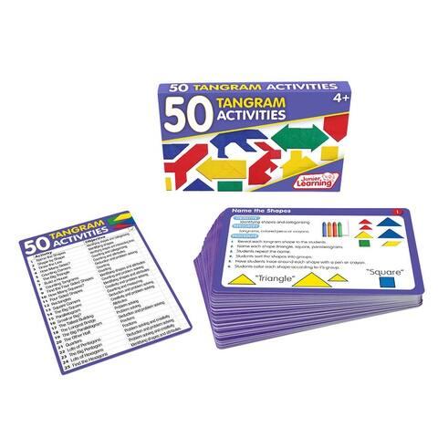 50 Tangram Activities Educational Learning Set - White