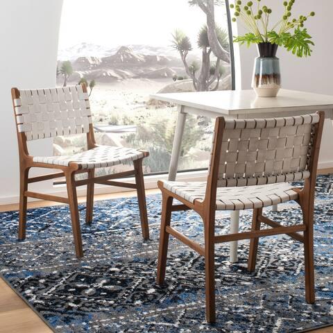 SAFAVIEH Taika Leather Dining Chair - White