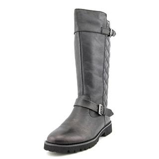 Easy Spirit Bronzato Round Toe Leather Mid Calf Boot