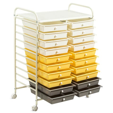 Gymax Office Rolling Cart 20 Storage Drawers Scrapbook Paper Studio - See Details