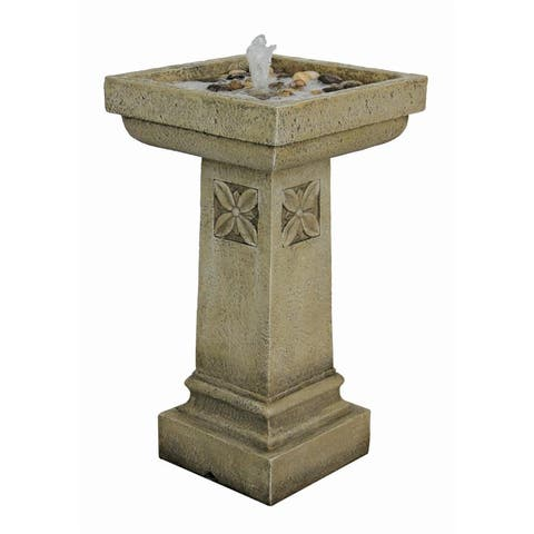 Design Toscano White Chapel Manor Pedestal Garden Fountain