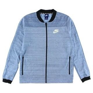 Nike Mens Sportswear AV15 Knit Jacket Light Blue - light blue/black/white