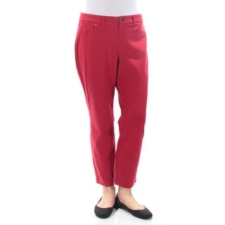 Womens Red Casual Leggings Size 10