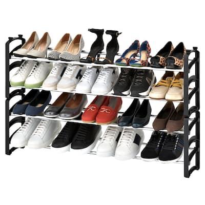 Seville Classics 20-Pair 4-Tier Expandable Stackable Shoe Rack Organizer