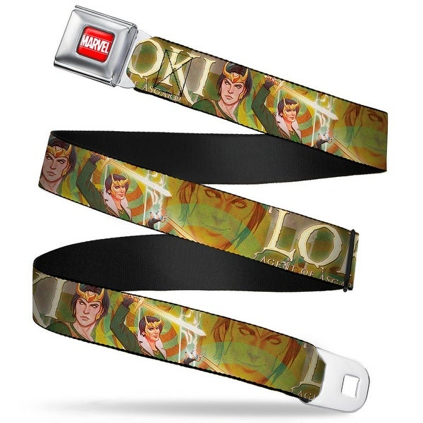 Marvel Universe Marvel Full Color Red White Loki Agent Of Asgard Poses Face Seatbelt Belt