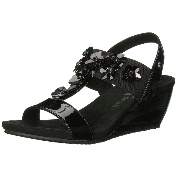 Anne Klein Women's Cassie Synthetic Wedge Sandal
