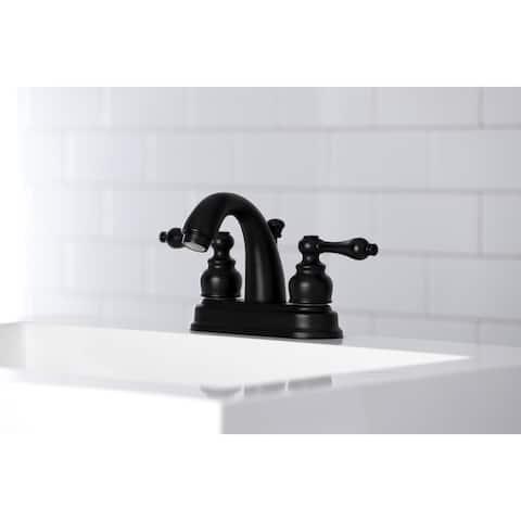 Restoration Two-Handle 3-Hole Deck Mount 4 in. Centerset Bathroom Faucet