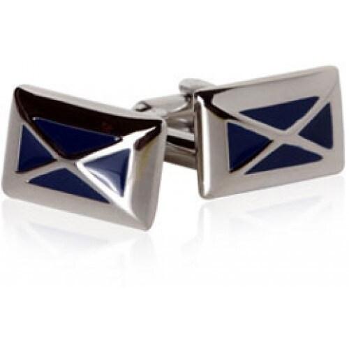 Navy Blue X Design Cufflinks