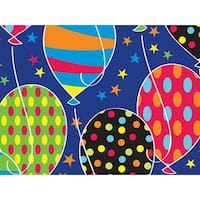 """Pack of 1, Party Balloons 18"""" x 417' Gift Wrap Half Ream Roll for Party, Kids' Birthday, Wedding & Occasion"""
