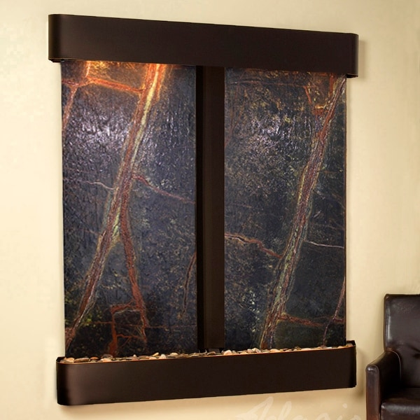 Adagio Cottonwood Falls Fountain with Blackened Copper Finish and Rounded Edges - Multiple Colors Available