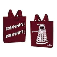 "Doctor Who Dalek ""Exterminate! Exterminate!"" Large Tote Bag - Red"